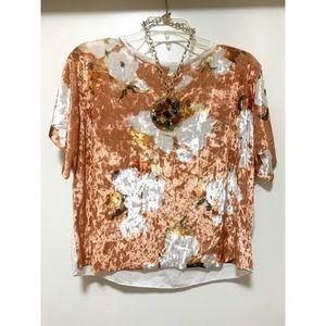 Beautiful velvet flower blouse